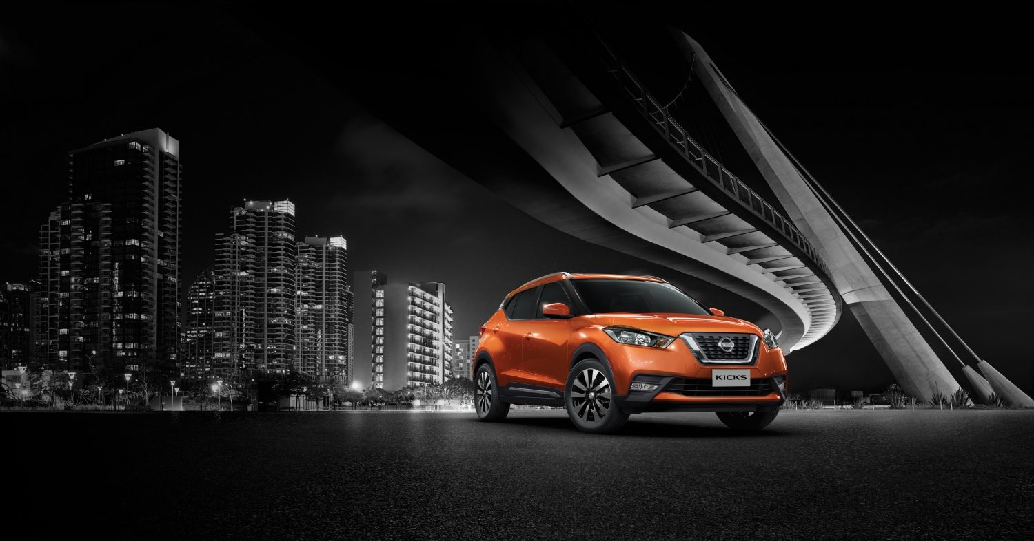 Nissan Kicks en color naranja
