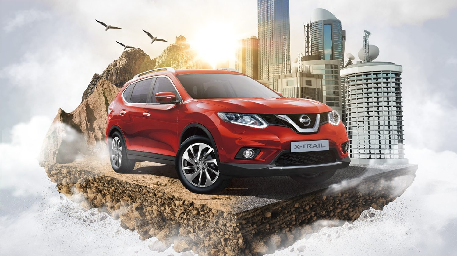 Nissan X-Trail en color rojo
