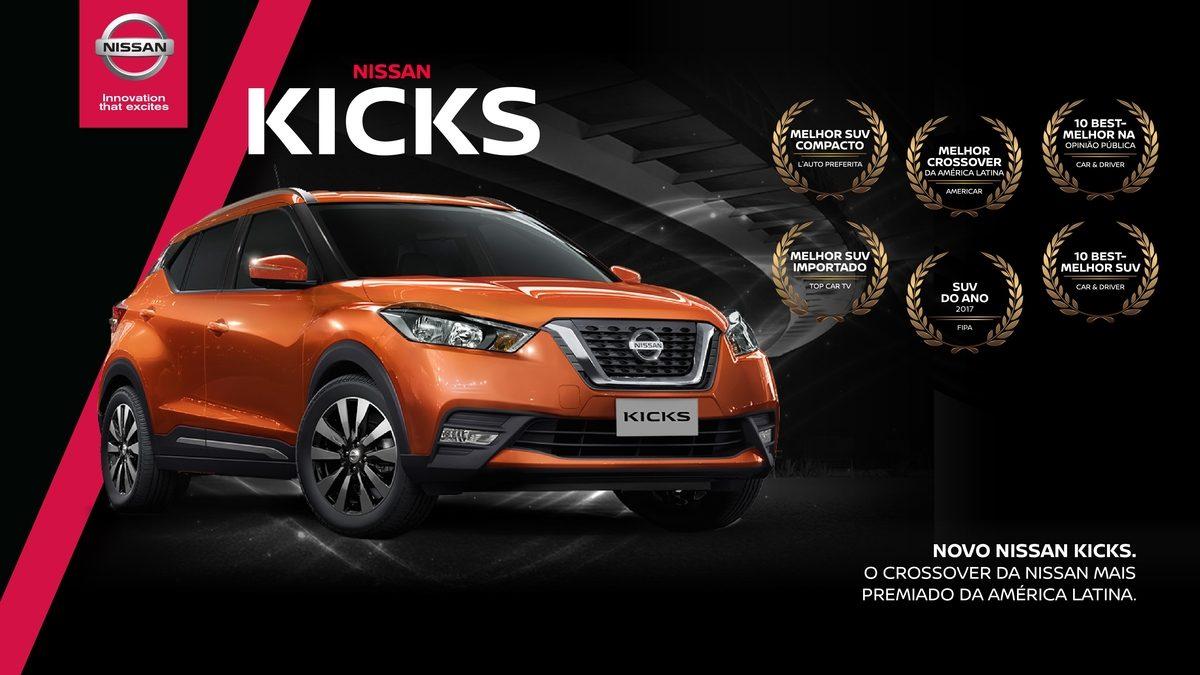 Nissan Kicks é o crossover mais premiado da América Latina