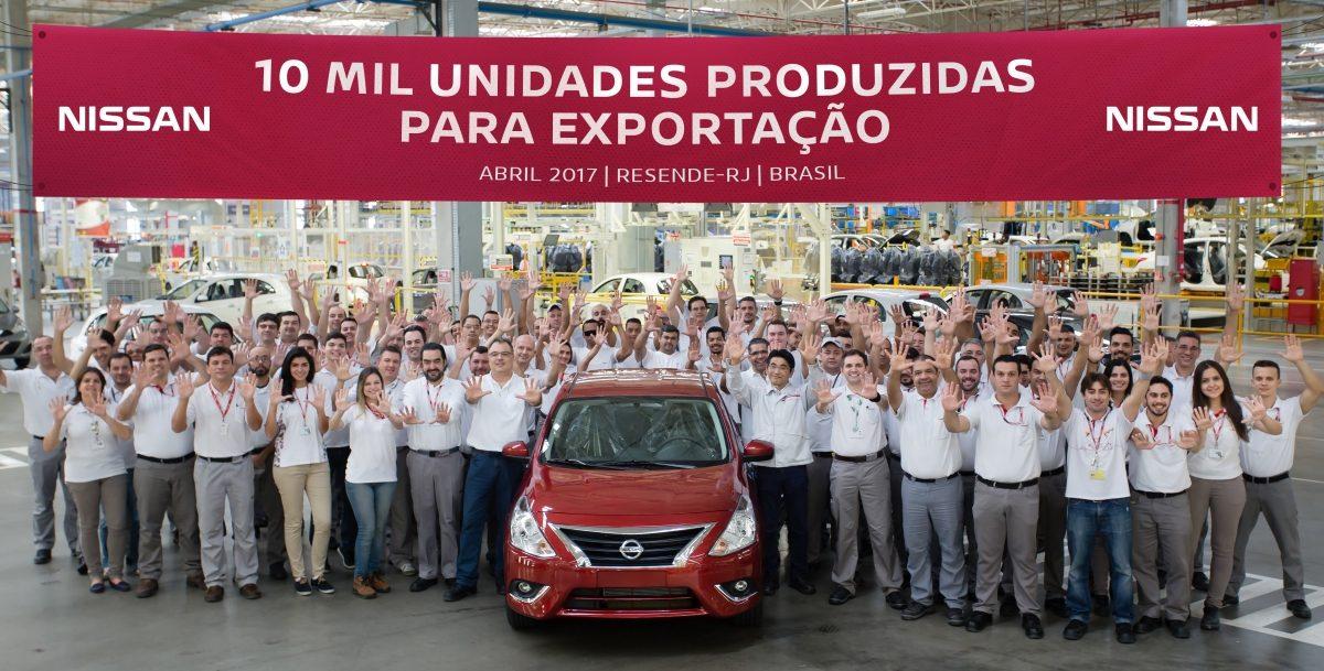 12d9878c0 Nissan chega a 10 mil veículos produzidos em Resende para exportação