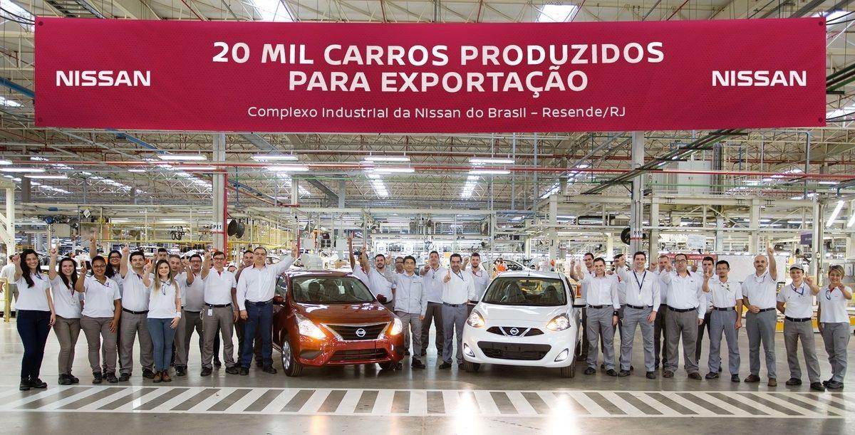 a2a4fb864 Fábrica da Nissan em Resende atinge a marca de 20 mil veículos exportados