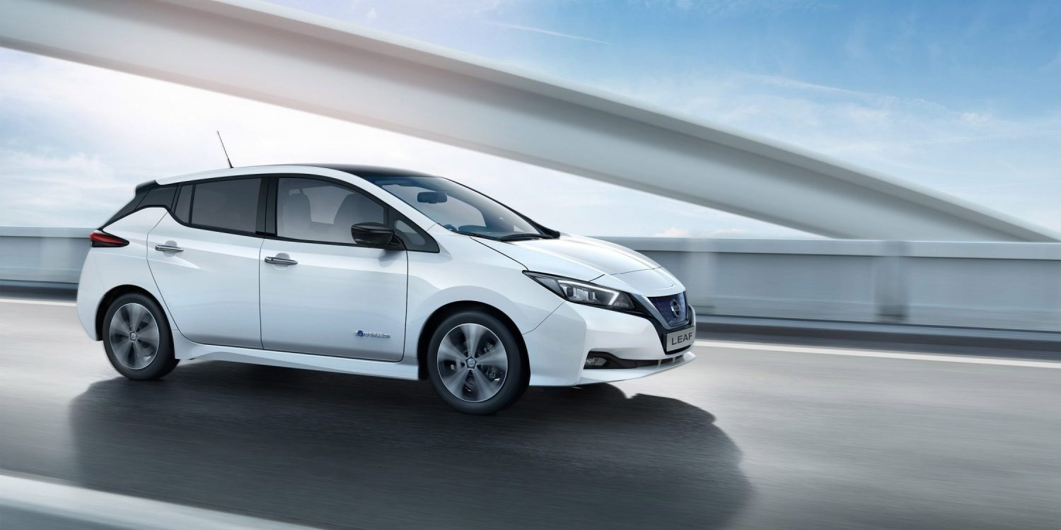 Nissan LEAF driving on a bridge