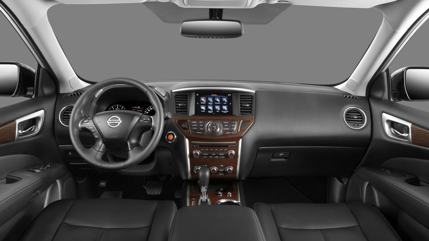 Nissan Pathfinder NissanConnect display with apps