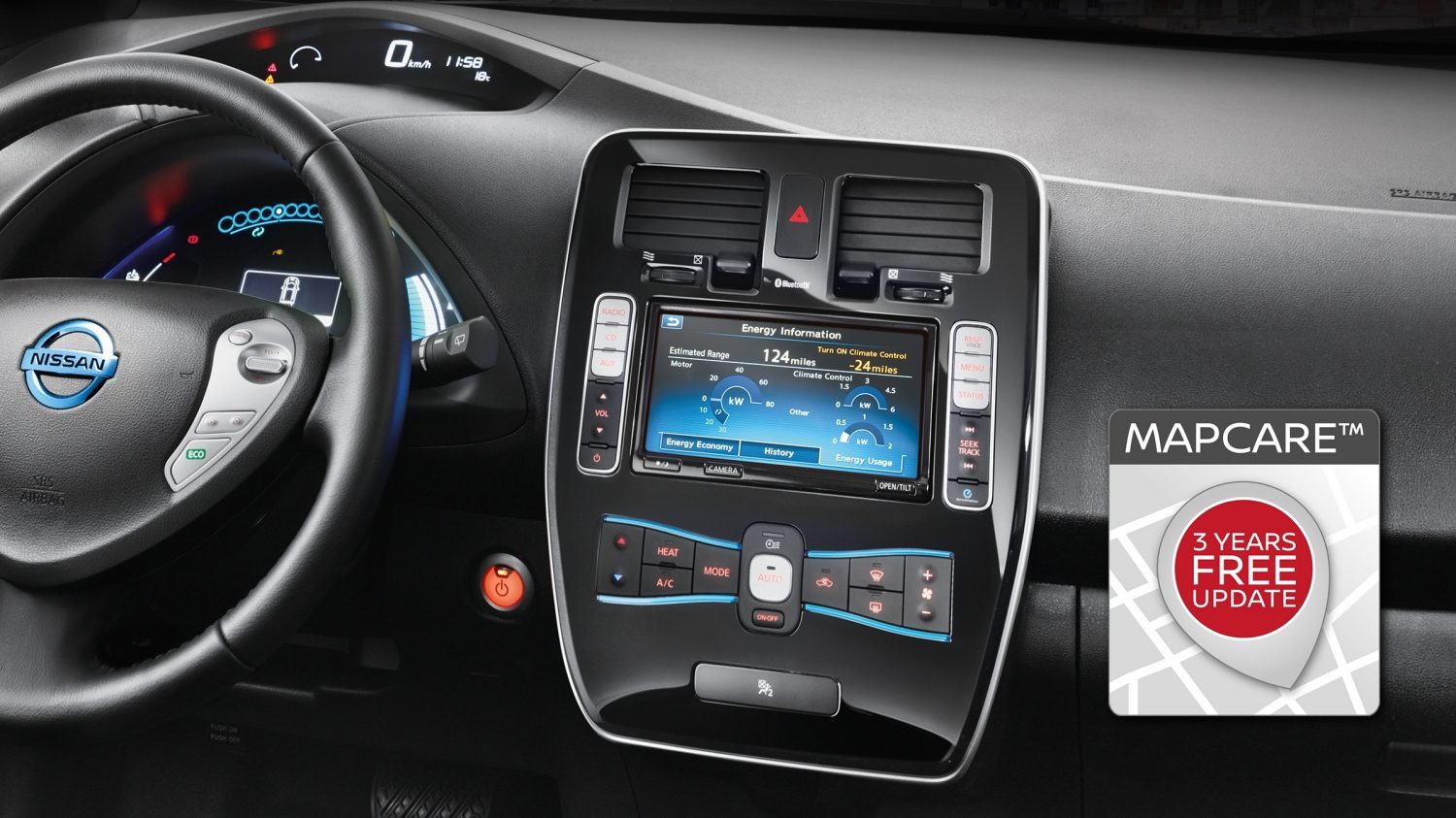 NISSAN LEAF – Bluetooth-Bildschirm