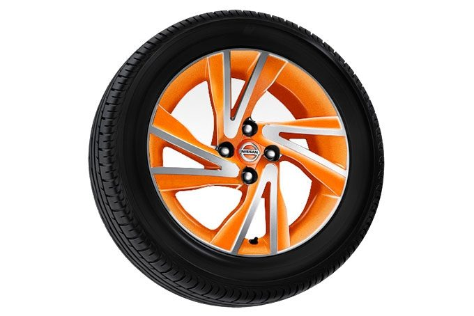 "Nissan Note - Alloy wheel - 16"" arrow alloy wheel Oppama orange"