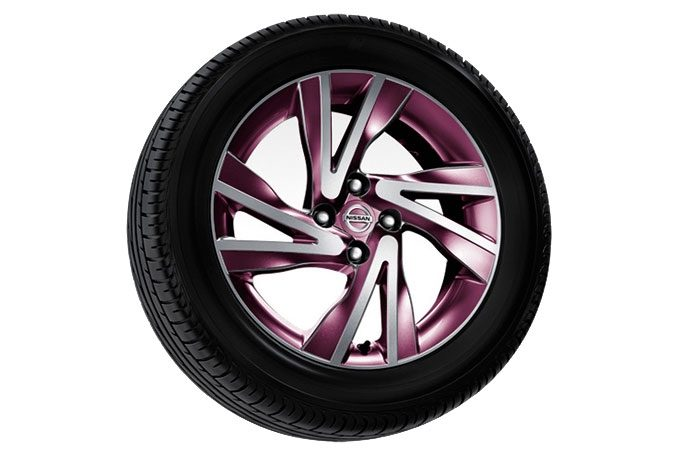 "Nissan Note - Alloy wheel - 16"" arrow alloy wheel yokohoma purple dimaond cut"
