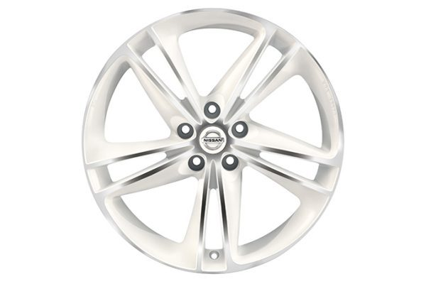 "Nissan X-Trail - Alloy wheels - 19"" Ibiscus alloy wheel white diamond cut"