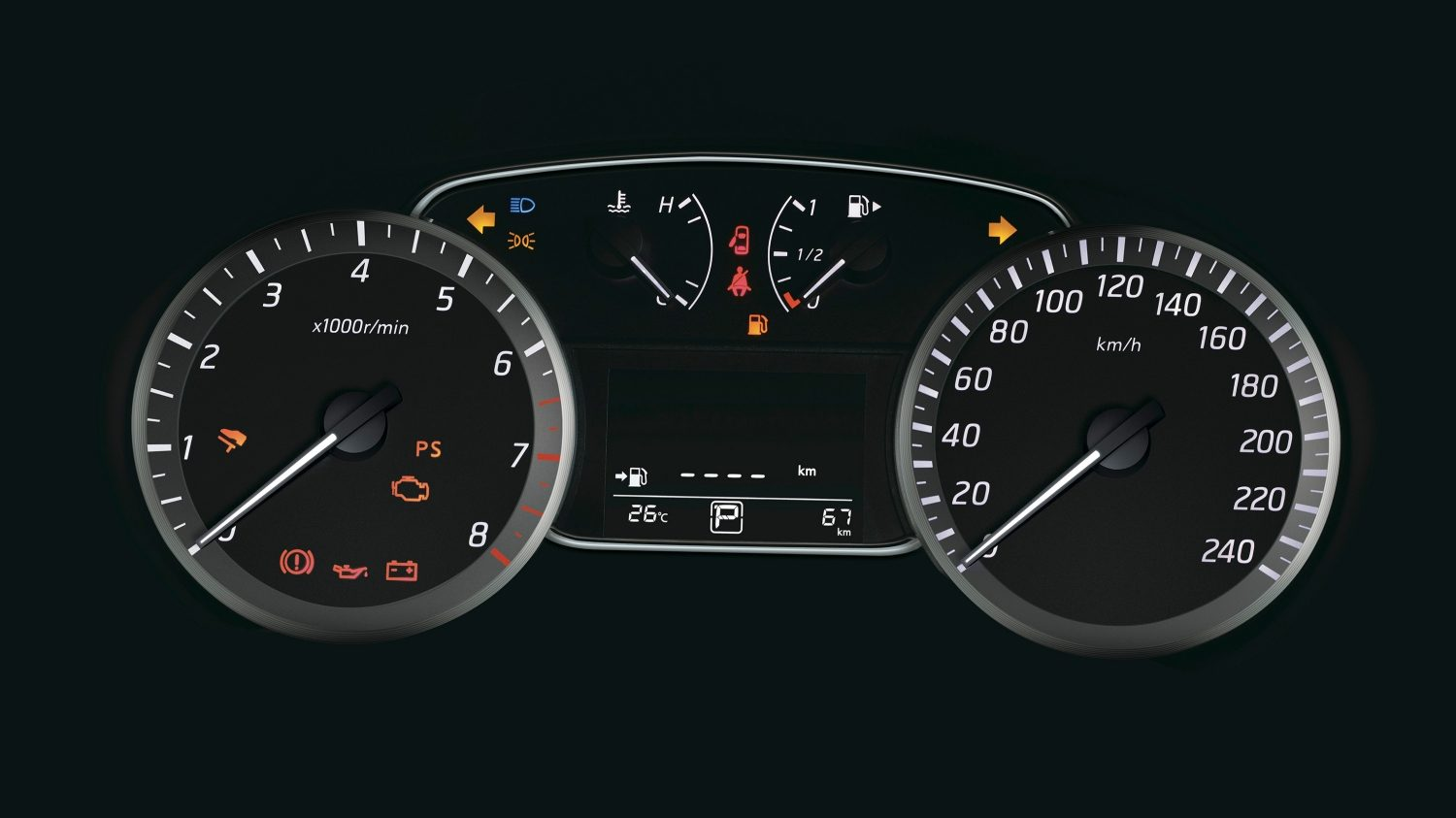 Speedometer and Driving Aids Display