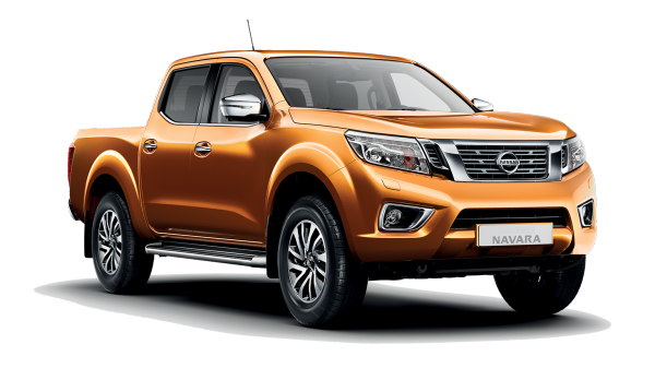Nissan navara red - 3/4 front view