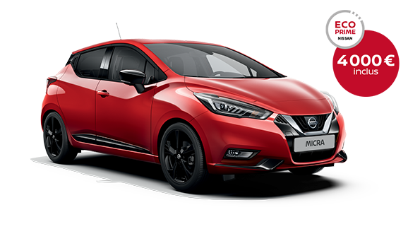 Photo de la Nouvelle Nissan MICRA en rouge