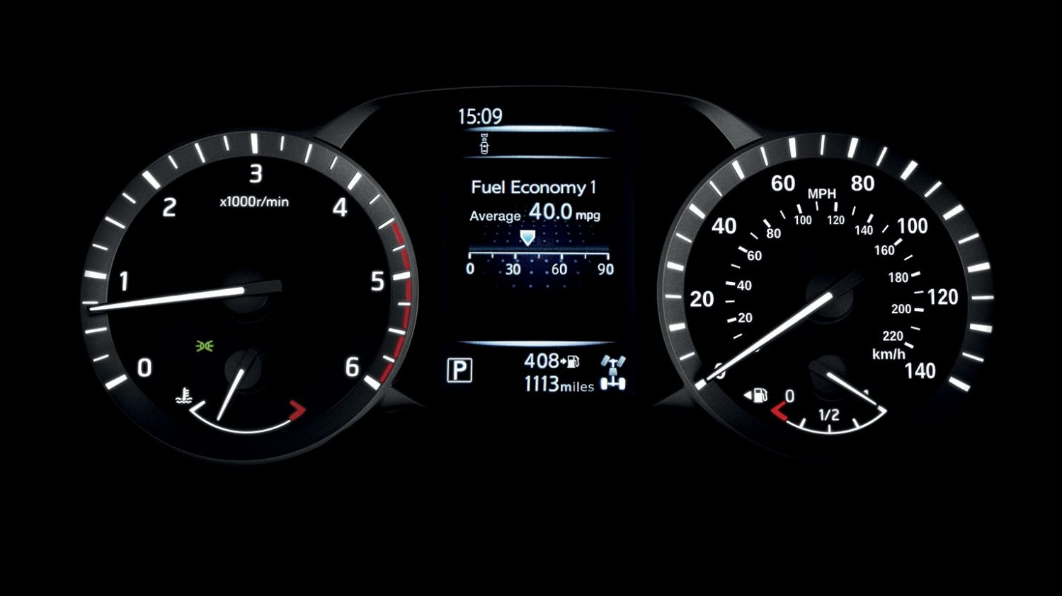 Nissan Navara - Fuel-economy display
