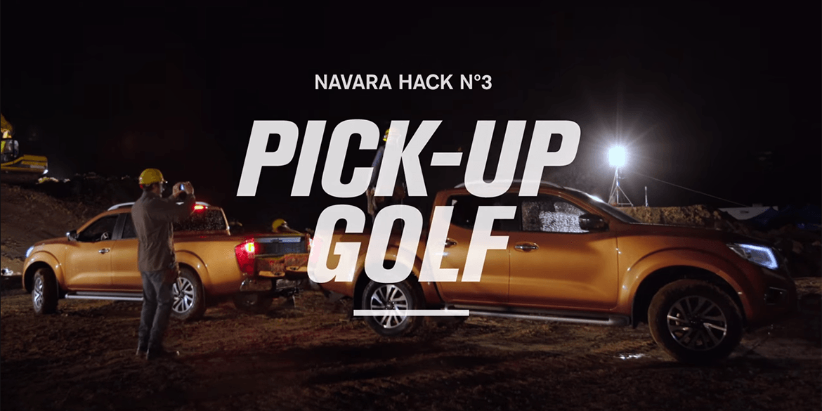 Navara Work Hack No. 3 Pick-Up Golf
