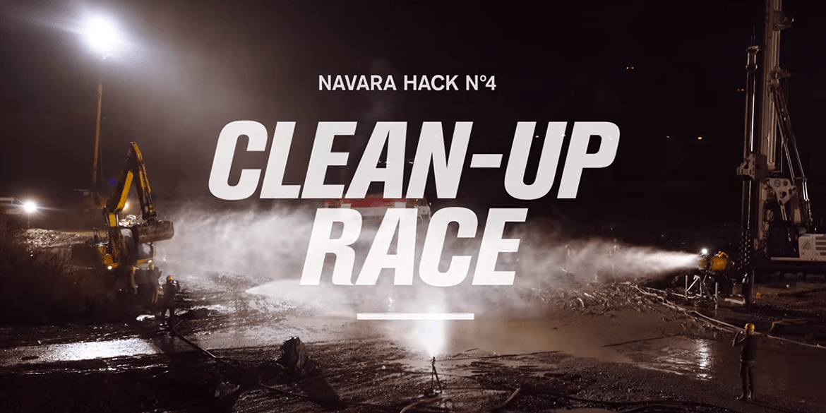 Navara Work Hack No. 4 Clean-Up Race