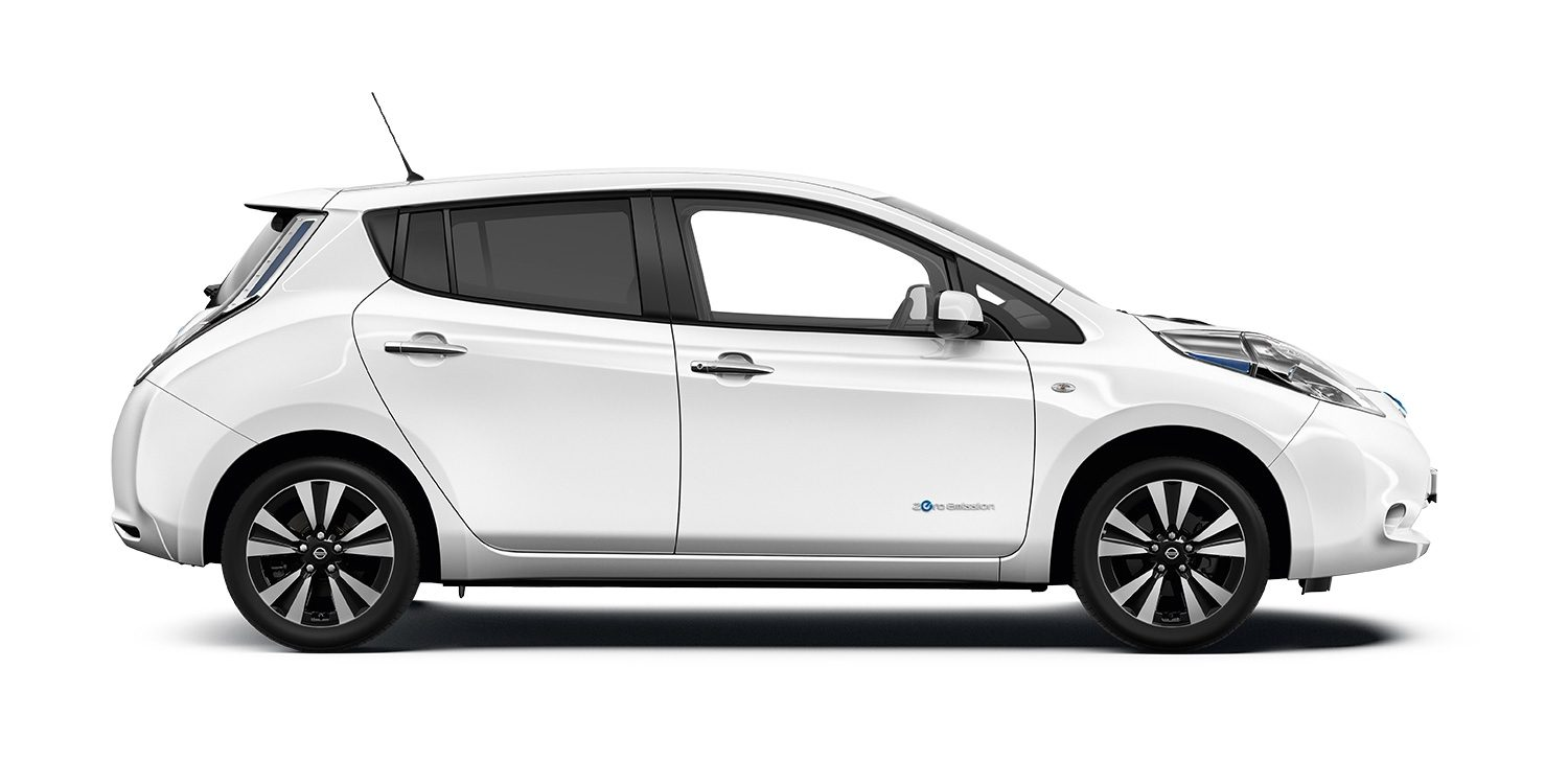 Image result for white Nissan Leaf