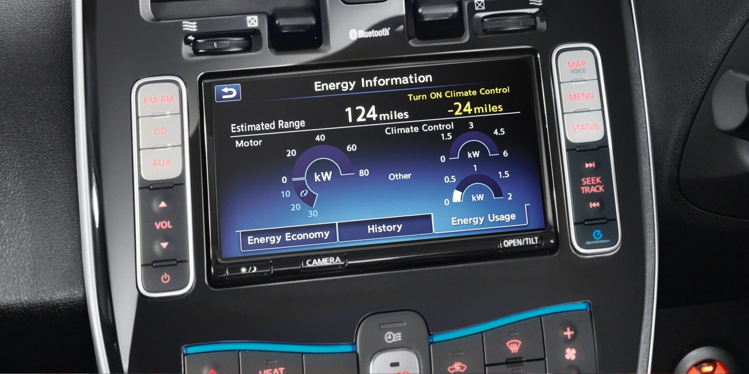 Nissan LEAF | NissanConnect EV telematics system display