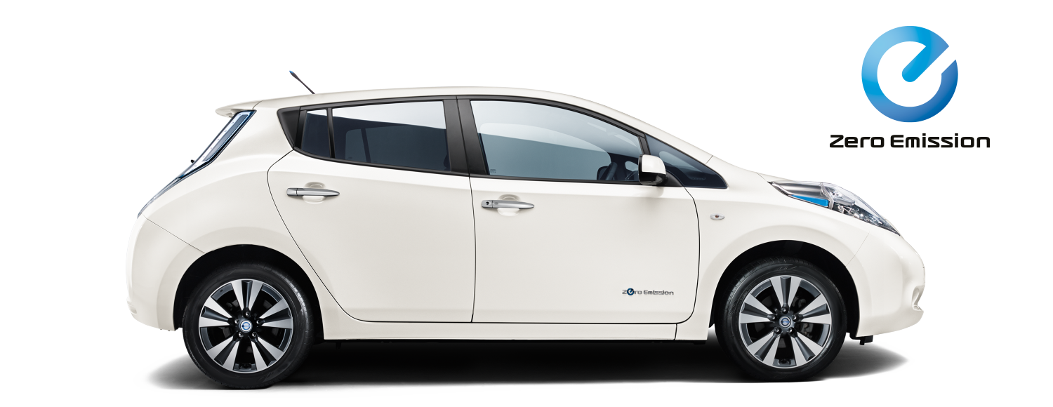 nissan leaf side view