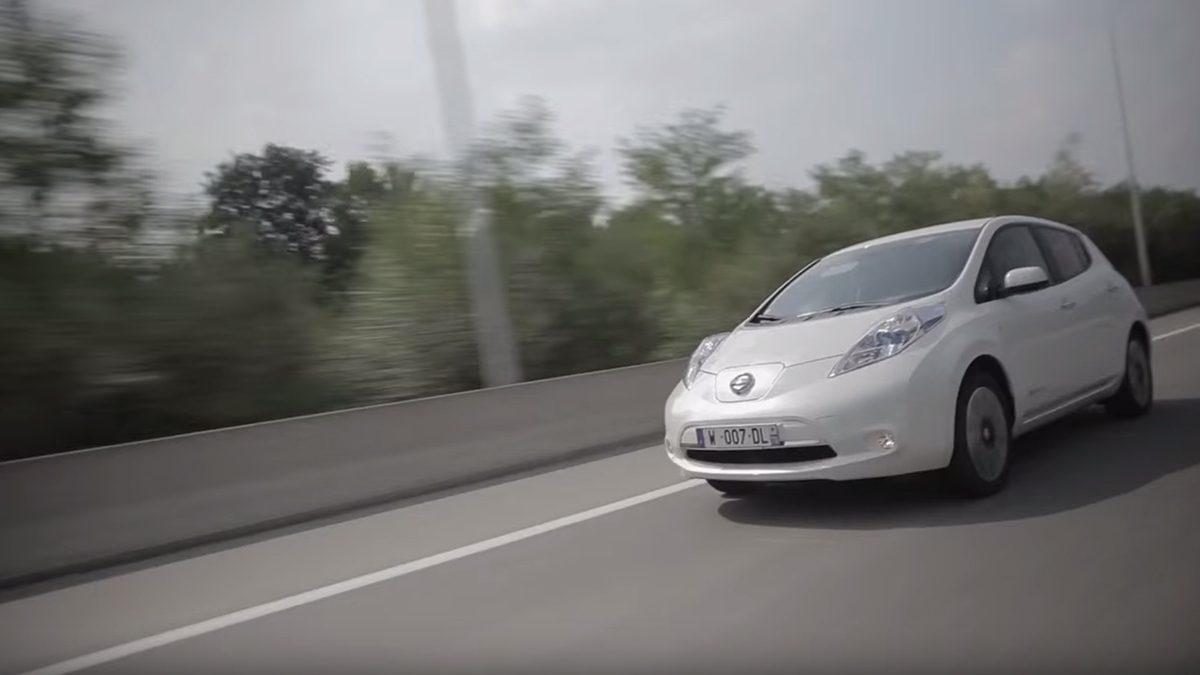 Nissan leaf electric car video demo