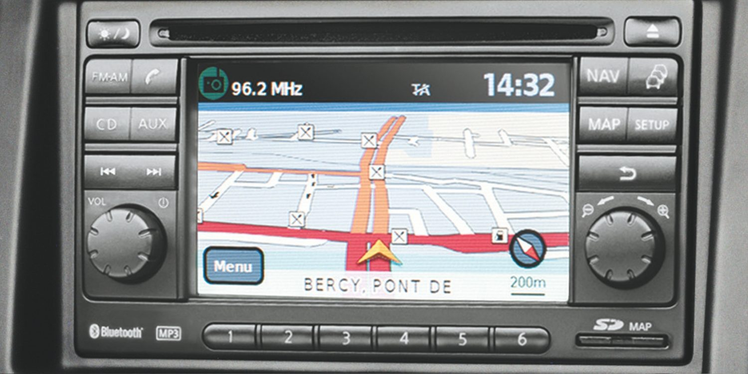 Van | Nissan NV200 | Sat nav display