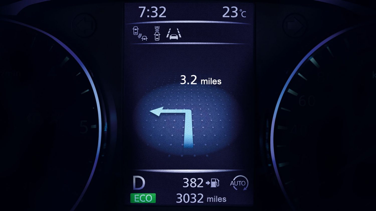 Small SUV features - Drive-Assist Display | Nissan Qashqai