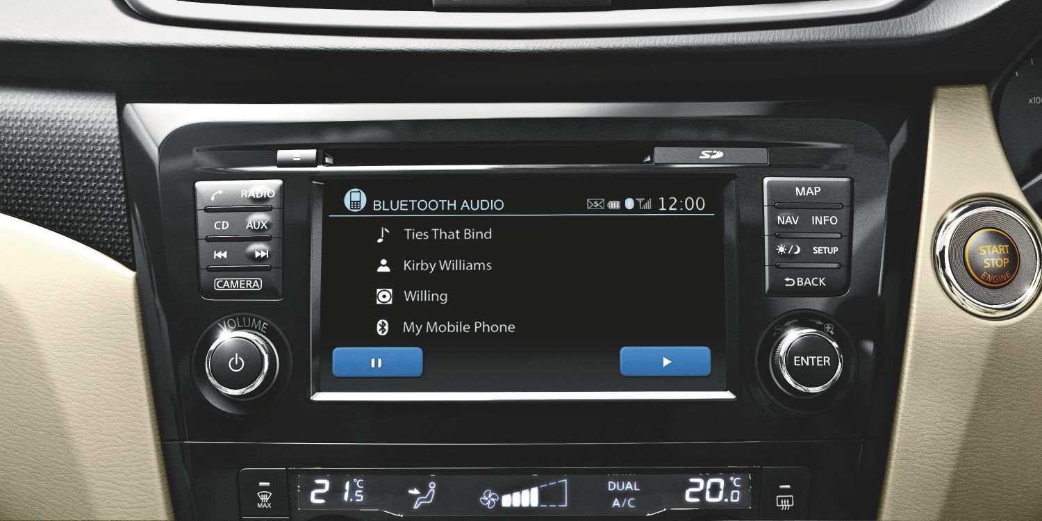 Nissan X-Trail | Bluetooth audio display