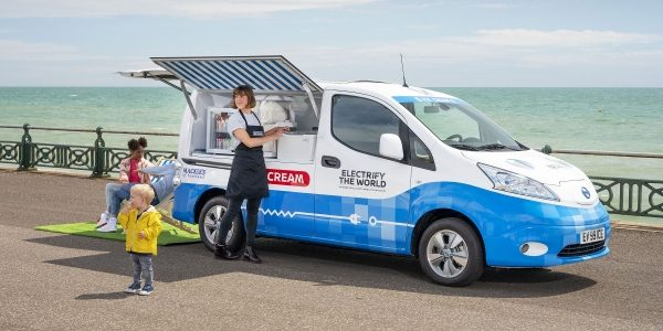 Nissan zero emissions electric ice cream truck