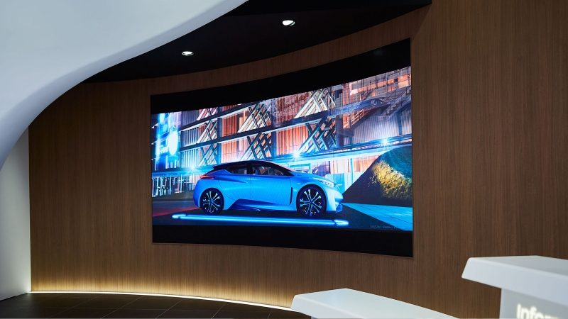 Nissan Crossing theater screen