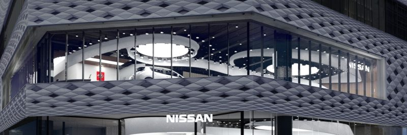 Fachada virtual de Nissan Crossing