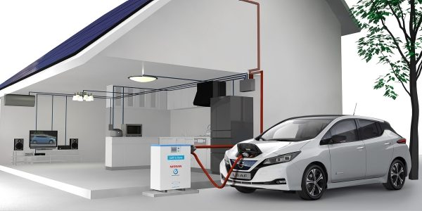 Nissan Leaf Vehicle a hogar