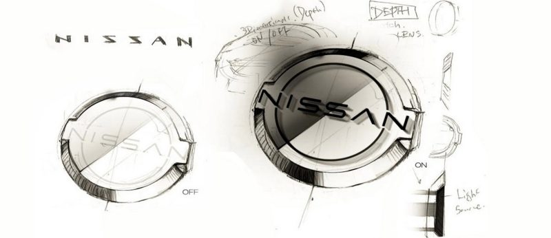 Sketch pad versions of Nissan logo
