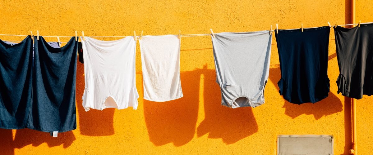 Clothes hanging on clothesline