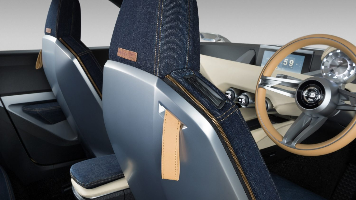 Nissan IDX Freeflow Concept denim upholstery seats