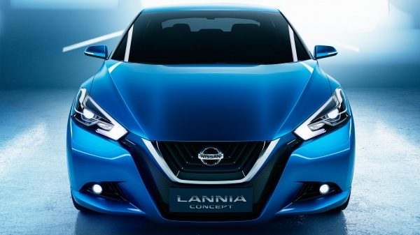 Nissan Lannia Concept straight front in studio.