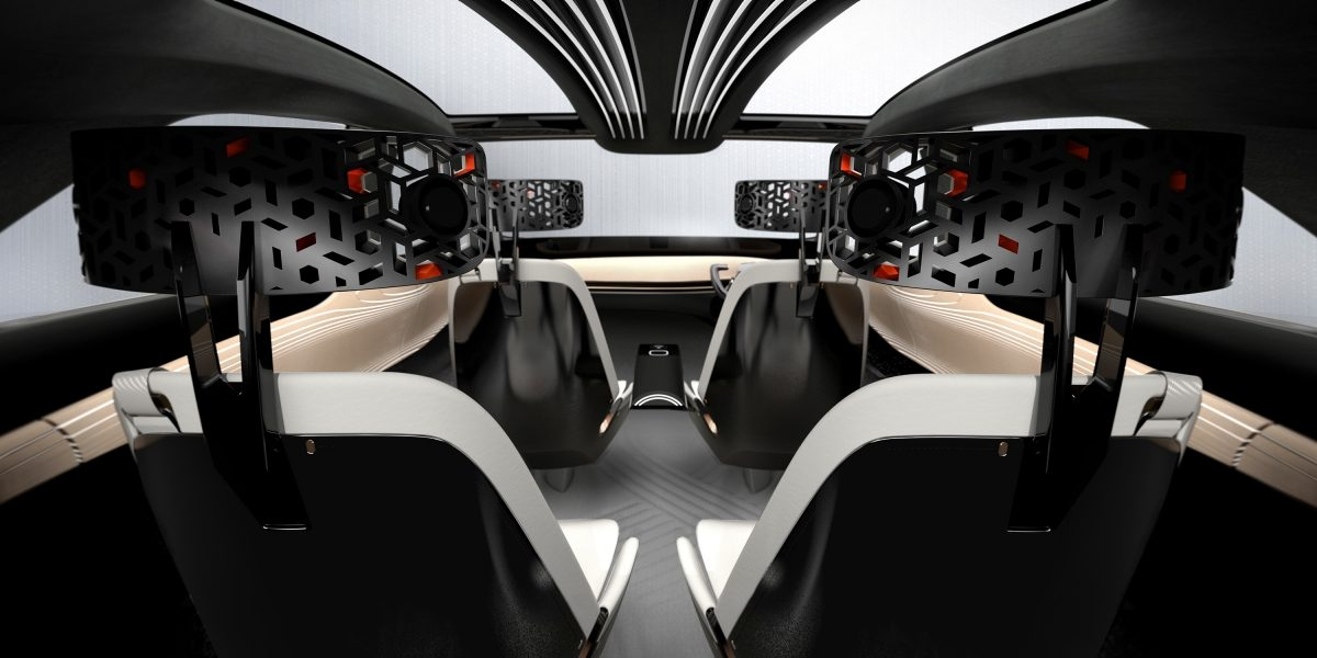 Nissan IMx concept car interior shot from back of vehicle
