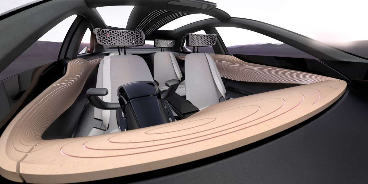 Nissan IMx concept car looking into interior from front windshield