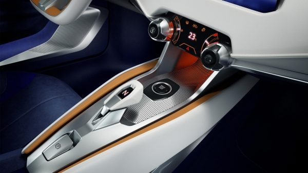 Nissan Sway Concept. Gallery shifter/center console.