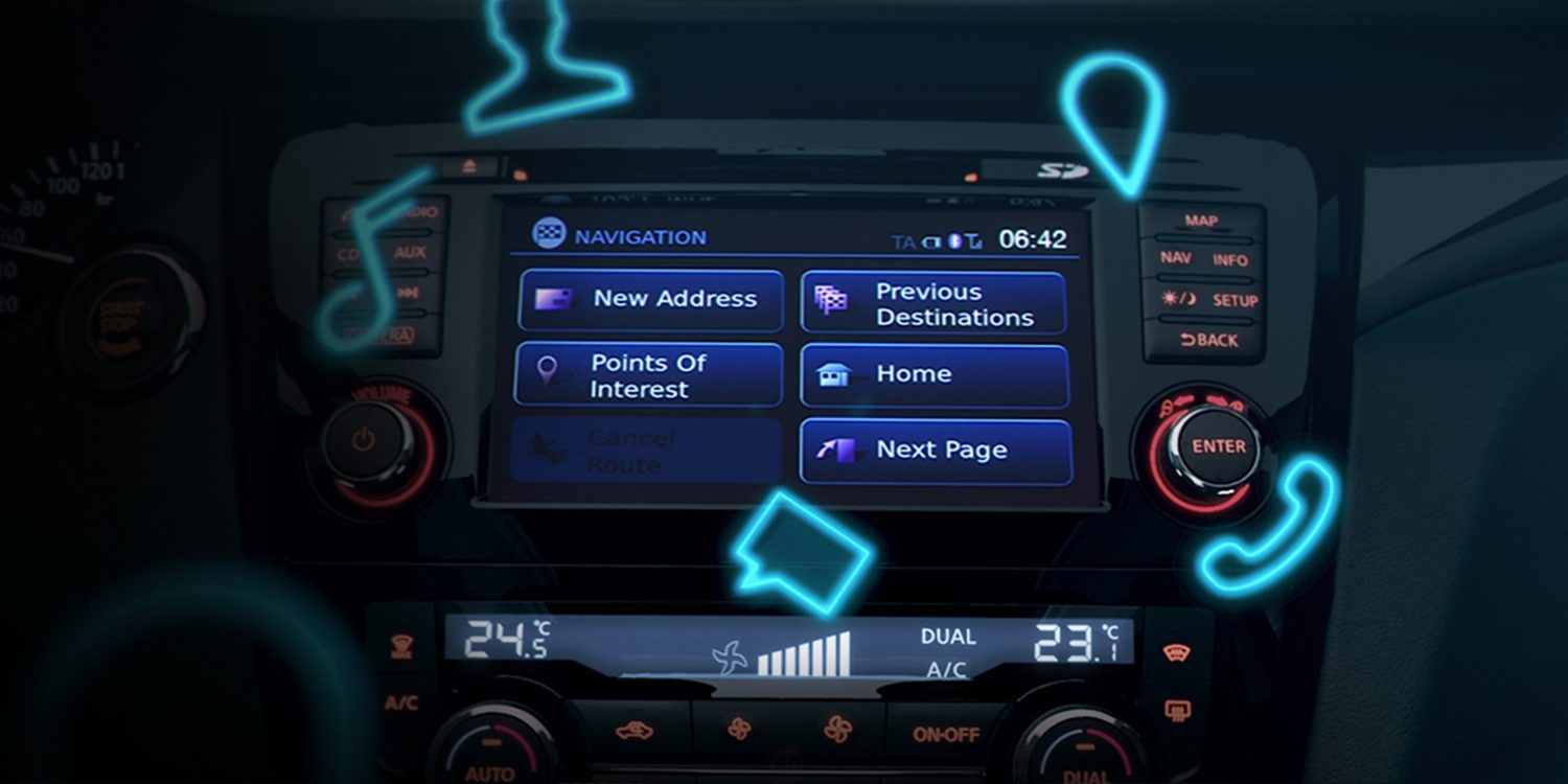 Nissan Connectivity display screen