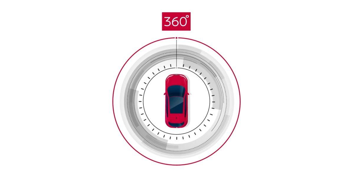 Nissan Intelligent Around View Monitor illustration