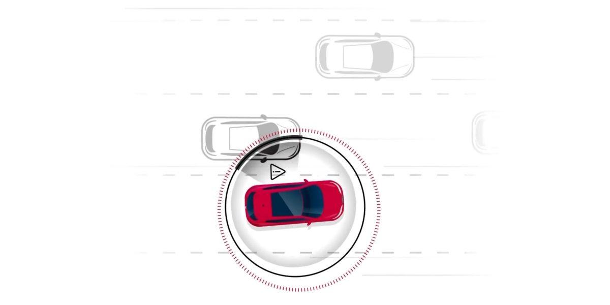 Nissan Intelligent Blind Spot Intervention illustration