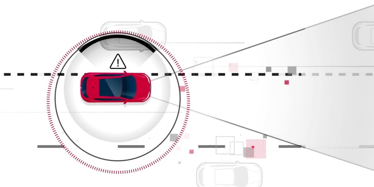 Nissan Intelligent Lane Intervention illustration
