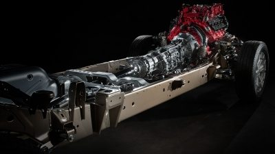 Nissan Titan XD high-strength steel frame.