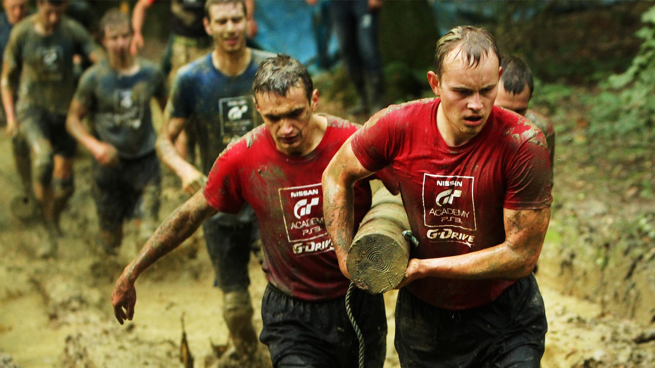 Nissan GT Academy Training camp mud run