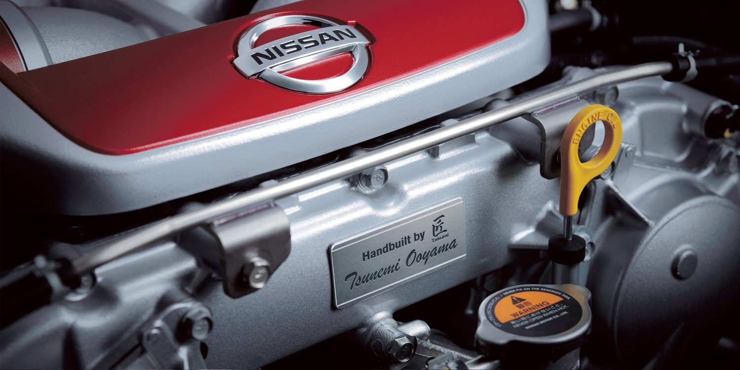 Nissan GT-R NISMO engine with Takumi plaque