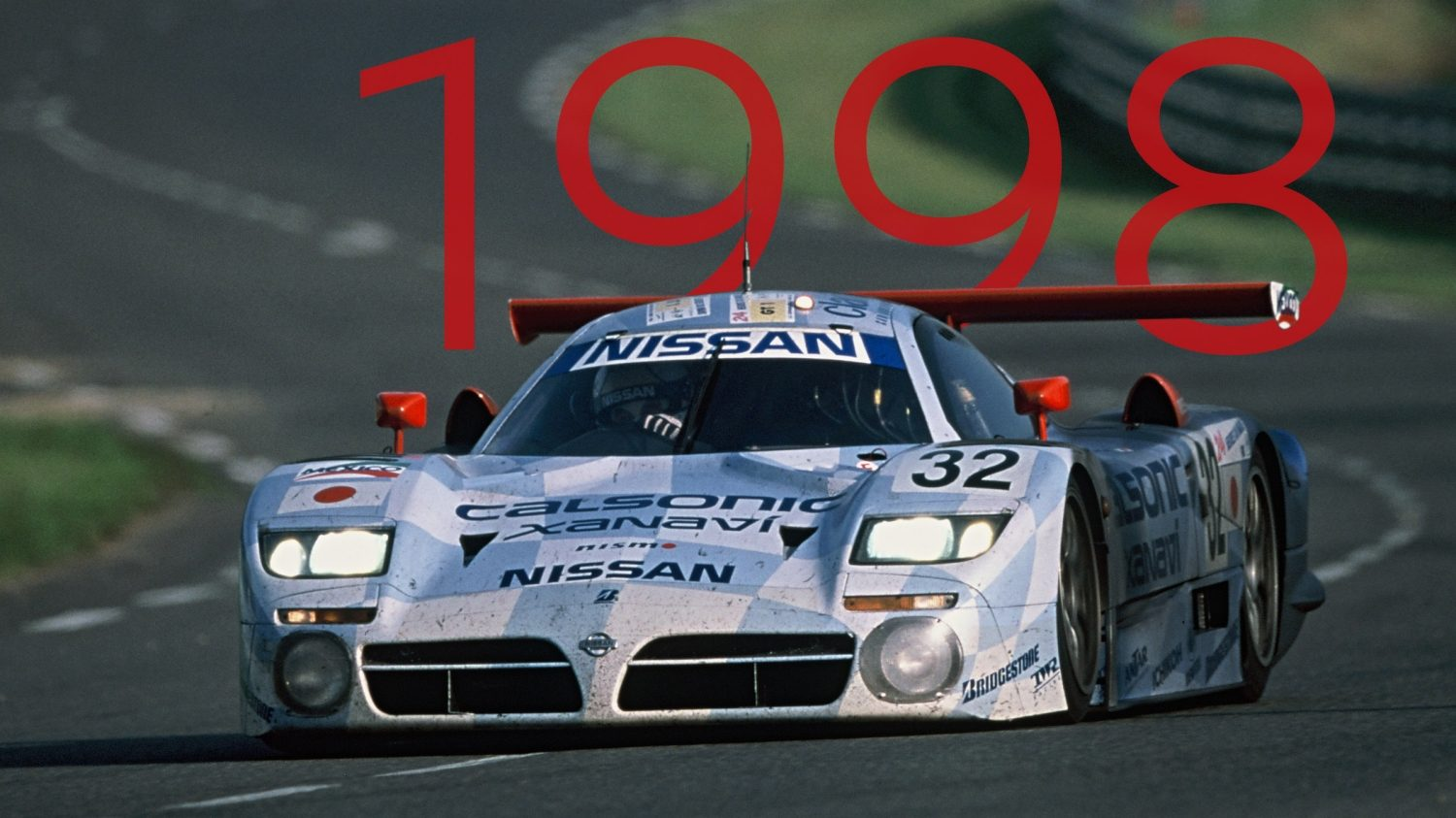 1998 Nissan R390 GT1 racing at LeMans