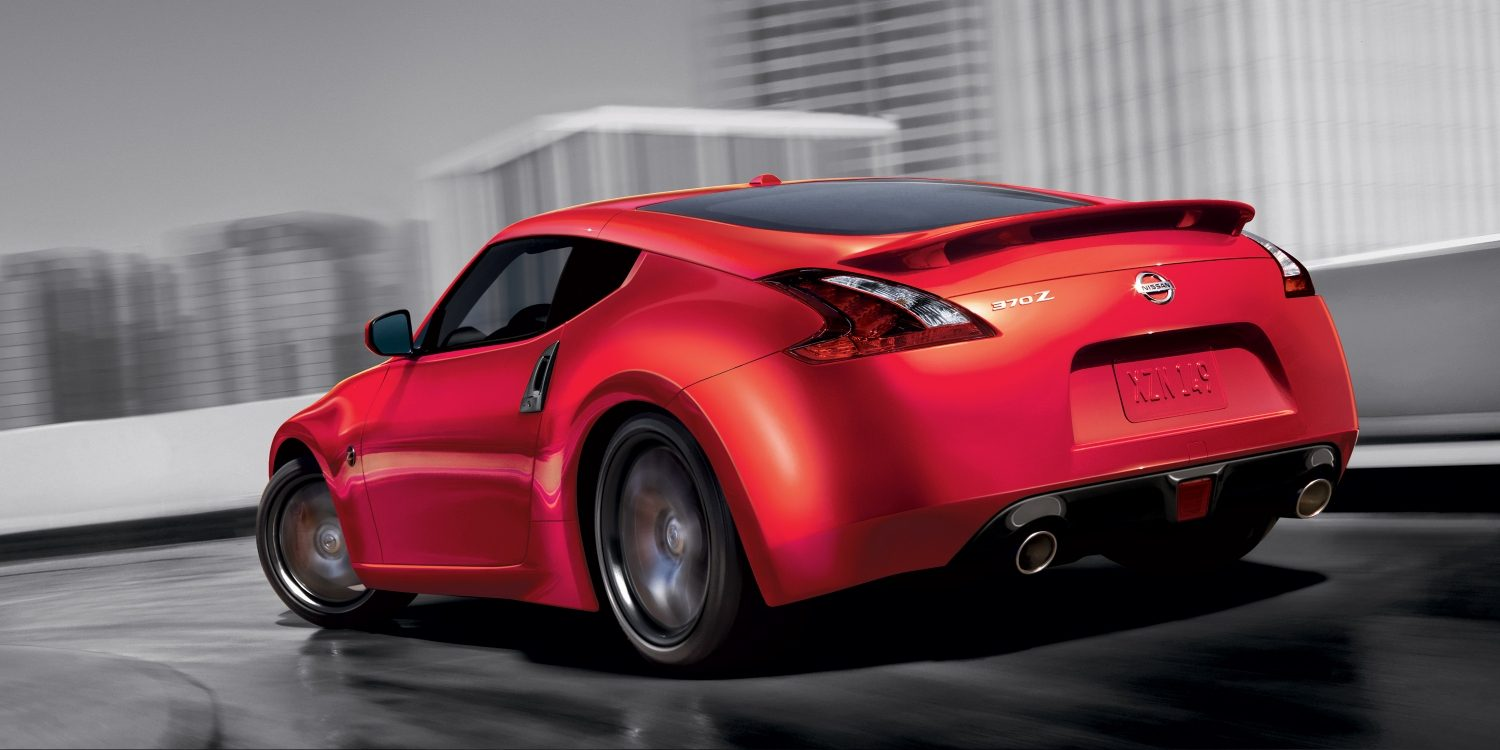 Nissan 370Z overhead on pavement