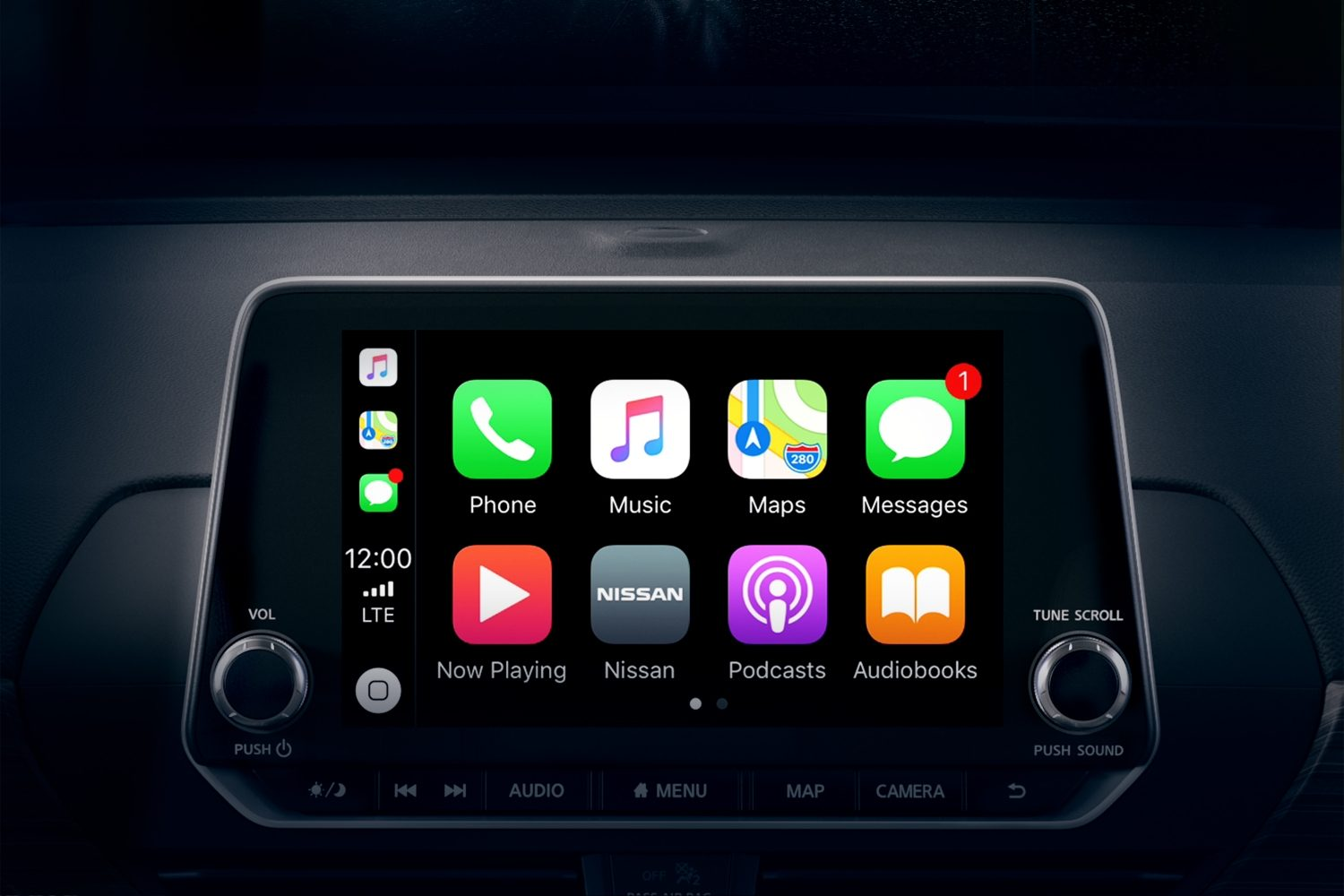 2019 nissan Altima touchscreen apple carplay