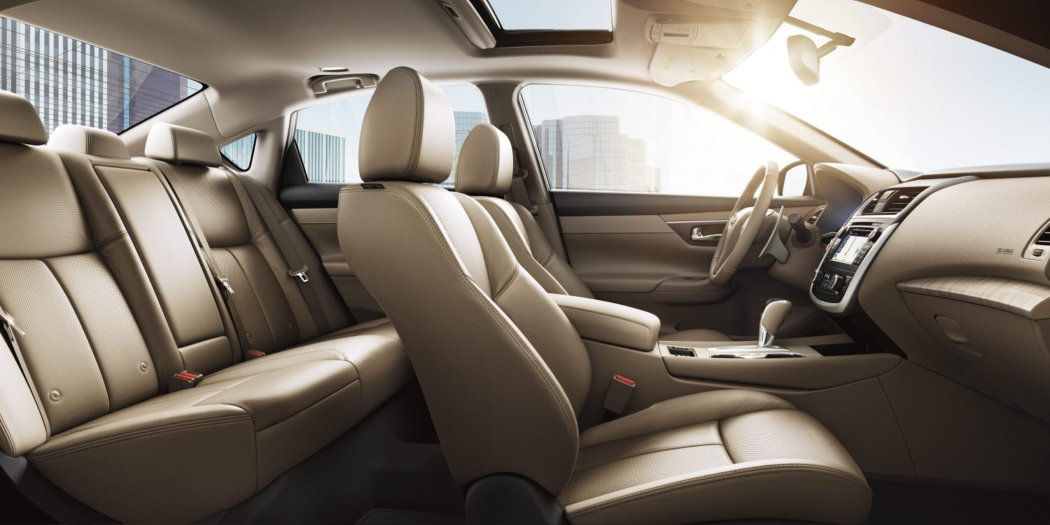 Nissan altima interior showing spacious cabin