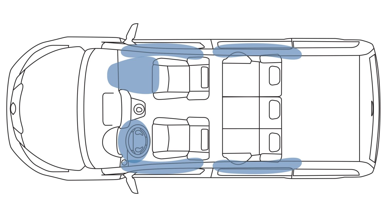 NISSAN e-NV200 – illustration de l'airbag rideau