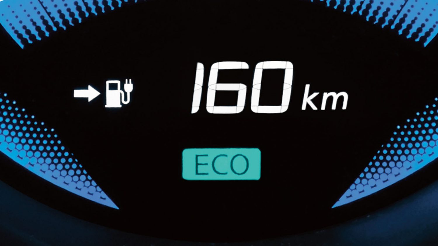 Nissan e-NV200 - Close up of display