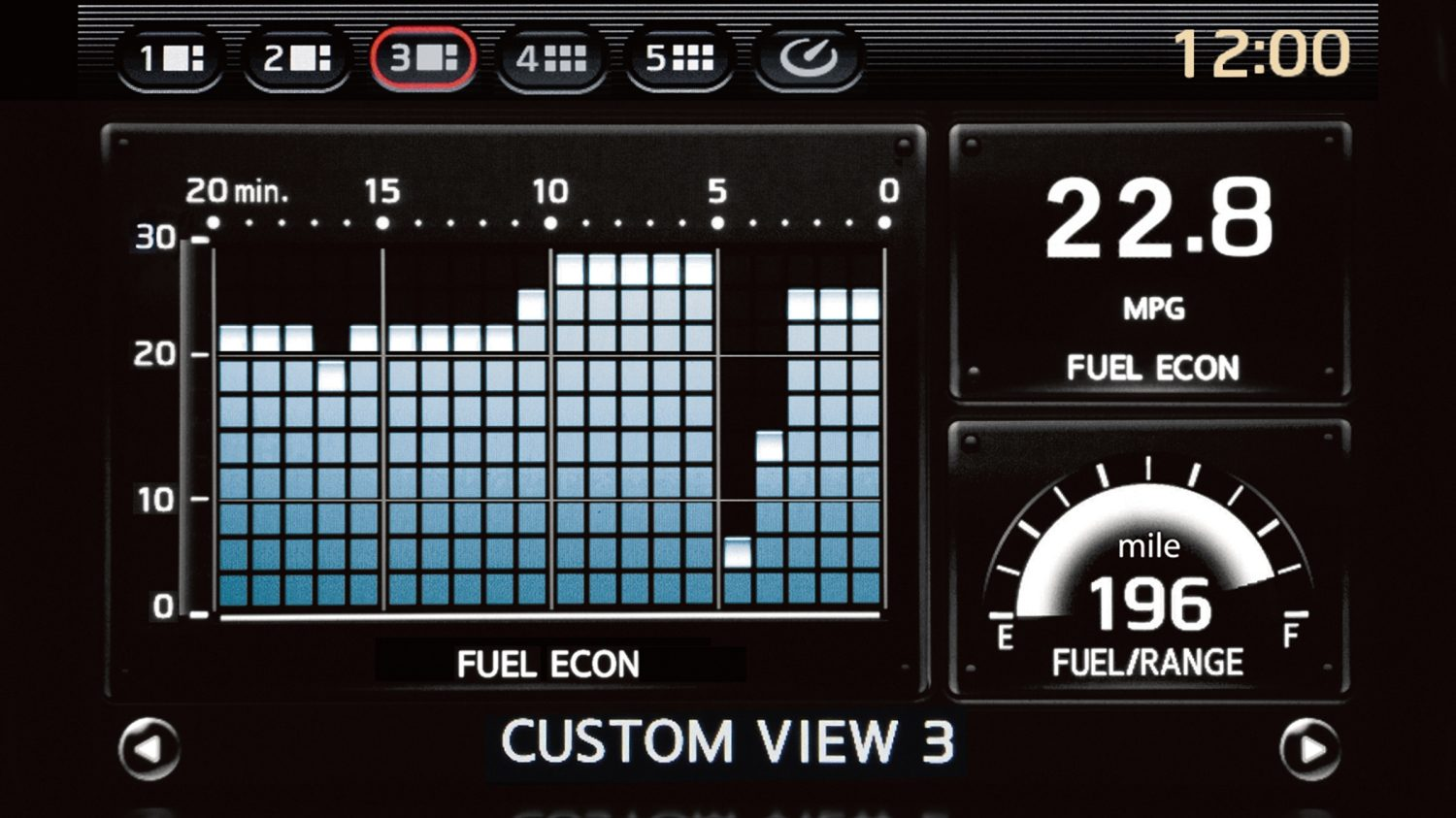 Nissan GT-R Multifunction Display Custom View
