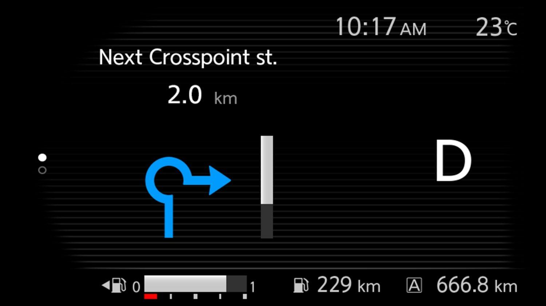 INFORMAÇÃO DE GPS (TURN BY TURN)